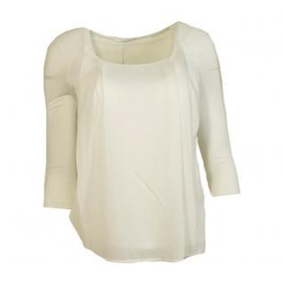 Vero Moda Damen Bluse Shirt 3/4 Arm HANNA 3/4 Top Weiß Gr. L