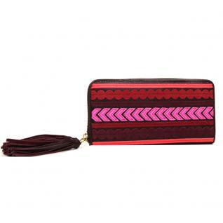 Fossil Geldbörse EMMA Zip Rot Pink Multi SL7241-995 Damen Geldbeutel