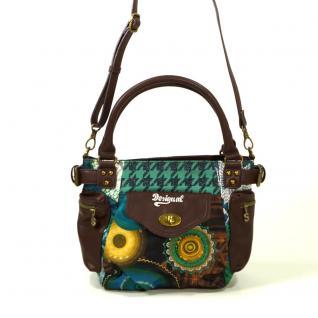 Desigual Bols McBee Mini Scotland Braun Grün Damen Handtasche Tasche