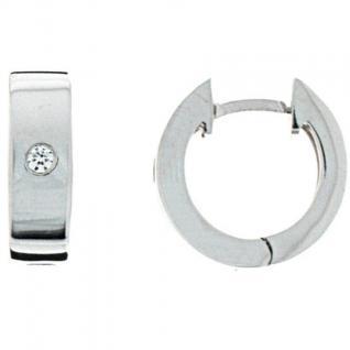 XENOX XS8508 Damen Creolen Modern Classic Silber weiß