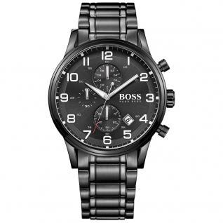 Hugo Boss Aeroliner Chronograph Uhr schwarz