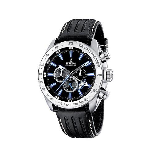 FESTINA F16489/3 SPORT Chronograph Uhr Herrenuhr Lederarmband schwarz