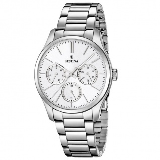FESTINA F16813/1 TREND Uhr Damenuhr Edelstahl Datum silber