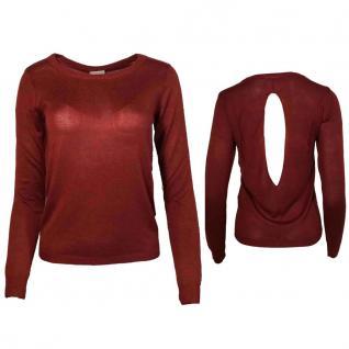 Vero Moda Damen Pullover Pulli FLAVIA Meghan LS Open Back Rot Gr. M