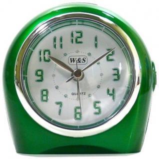 W&S 22318-09 Wecker Uhr grün-weiß Analog Licht Alarm