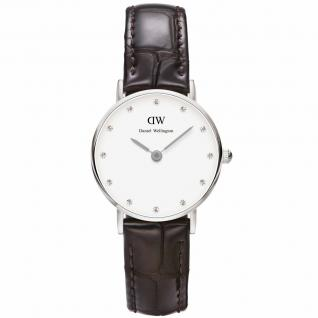 Daniel Wellington 0922DW Classy York Uhr Damenuhr Lederarmband braun