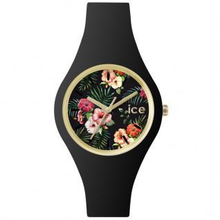 Ice-Watch ICE FLOWER Colonial Small Uhr Damenuhr Kautschuk schwarz