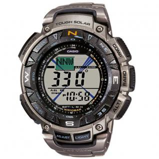 CASIO PRG-240T-7ER PRO TREK Uhr Herrenuhr Titan Datum Alarm schwarz