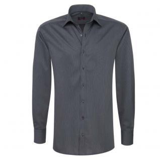 Eterna Herrenhemd Hemd Langarm Modern Fit Schwarz Gr M/40 4610/38/X177