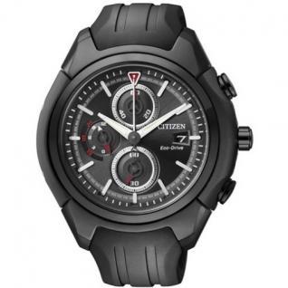 Citizen CA0285-01E Eco Drive Chronograph Uhr Chrono Datum schwarz