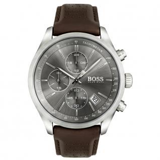 Hugo Boss 1513476 GRANDPRIX Chronograph Uhr Herrenuhr Datum Braun