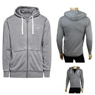 Jack & Jones Herren Sweater 12086121 CLOUD Sweat Hood Zip Grau Gr. S