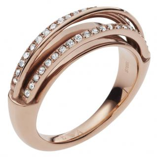 Emporio Armani EGS2198221508 Damen Ring Edelstahl Rose Weiß 56 (17.8)
