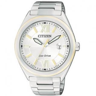 Citizen AW1174-50A Eco Drive Uhr Herrenuhr Edelstahl Datum silber