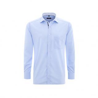 Eterna Herrenhemd Langarm Modern Fit Blau 8501/10/X37R Gr. XXL/45