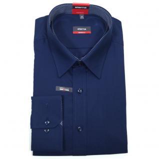 Eterna Herrenhemd Langarm 1100/19/X148 Modern Fit Marine Blau Gr. M/40