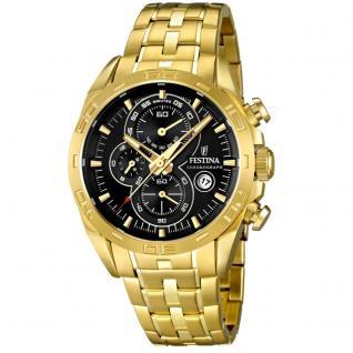 FESTINA F16656/5 Chronograph Uhr Herrenuhr Chrono Datum gold