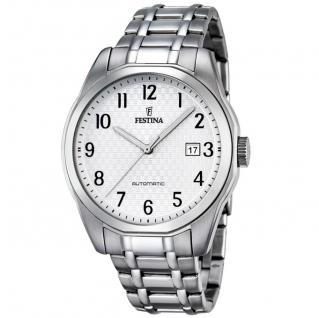 FESTINA F16884/1 Automatic Uhr Herrenuhr Edelstahl Datum silber