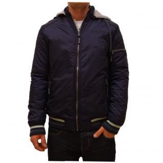 Authentic Style Winterjacke Herren Sublevel Bomber Blau Gr. L