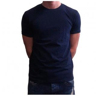Herren T-Shirt Kurzarm Sky Rebel Rundhals Basic Blau Gr. L