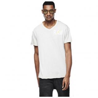 G-Star Herren T-Shirt Kurzarm Hujan V Shirt Grau Gr. M