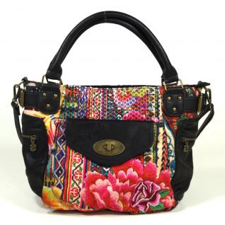 Desigual Bols McBee Casilda Schwarz Pink 67X51B8 Handtasche Tasche