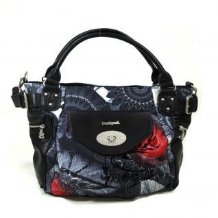 Desigual Bols McBee Same Schwarz Grau 67X50T9-2017 Handtasche Tasche