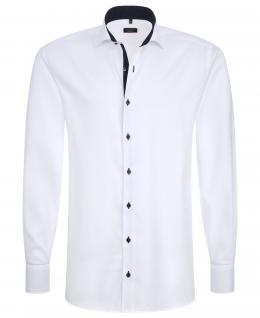 Eterna Herrenhemd Langarm 8100/00/F132 Hemd Slim Fit Weiß M/40