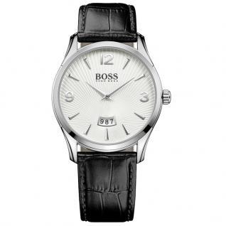 Hugo Boss 1513449 Commander Uhr Herrenuhr Lederarmband Datum Schwarz