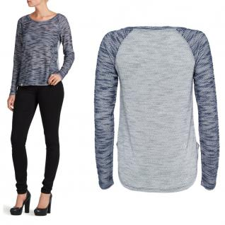 Only Damen Pulli Langarmshirt MILLE LS Top Ess Blau Grau Gr. XS