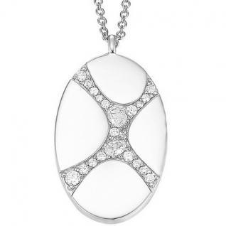 Joop JPNL90566A420 Damen Halskette Silber Modell Junction 45 cm mit Zirkonia weiß