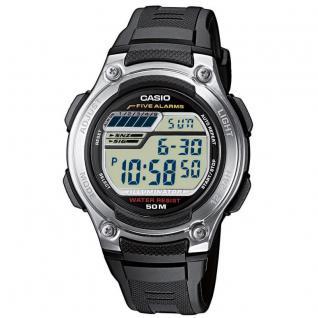 CASIO W-212H-1AVES Uhr Herrenuhr Resin Datum Alarm Digital schwarz