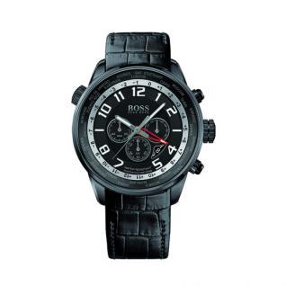 Hugo Boss 1512740 Chronograph Uhr Herrenuhr Lederarmband Datum schwarz