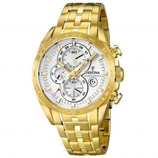 FESTINA F16656/1 SPORT Chronograph Uhr Herrenuhr Edelstahl gold