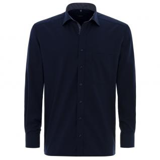 Eterna Herrenhemd Langarm Comfort Fit Blau XXL/45 Hemd 8501/19/E37R