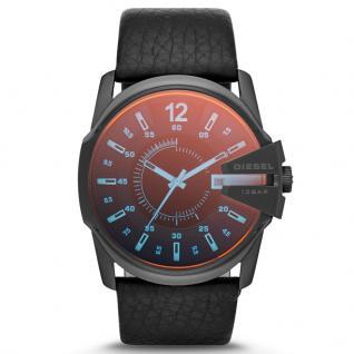 Diesel DZ1657 Uhr Herrenuhr Lederarmband Datum Schwarz