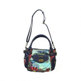 Desigual Bols McBee Mini Blau Handtasche Tasche Schultertasche