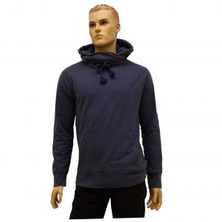 Authentic Style Herren Pulli Urban Surface Sweater mit Kapuze Blau L
