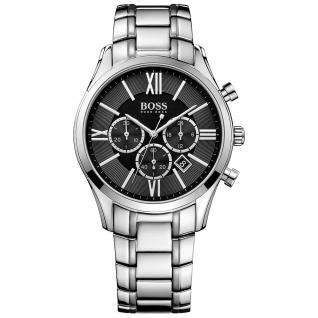 Hugo Boss 1513196 Ambassador Chronograph Uhr Herrenuhr schwarz