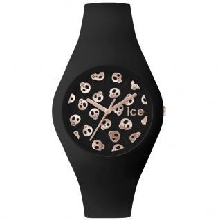 Ice-Watch ICE.SK.BK.U.S.15 ICE SKULL Black Rose Gold Uhr schwarz