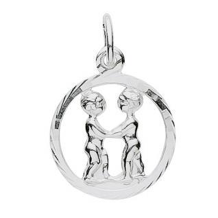 Basic Silber 24.9019SZW Damen Anhänger Sternzeichen Zwilling Silber