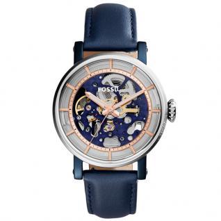 Fossil ME3136 Uhr Damenuhr Lederarmband Blau