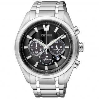 Citizen Super Titanium Chronograph Uhr Herrenuhr Titan Datum schwarz