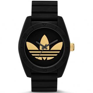Adidas SANTIAGO Uhr Damenuhr Kautschuk schwarz gold