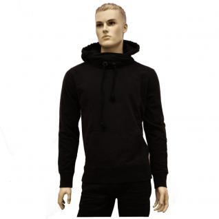 Authentic Style Herren Pulli Urban Surface Sweater Kapuze Schwarz L