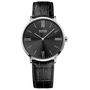 Hugo Boss Jackson Uhr Herrenuhr Lederarmband schwarz