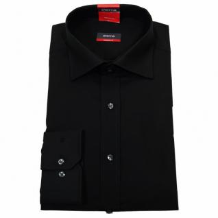 Eterna Herrenhemd 1100/39/X177 Modern Fit Schwarz Gr. L/42