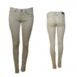 G-Star Damen Jeans Hose Lynn Mid Skinny Weiß Grau Gr. 28W / 32L