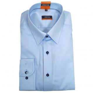 Eterna Herrenhemd Langarm 4678/10/F198 Slim Fit Hellblau Gr. M/40