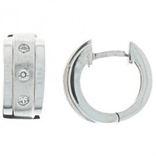 XENOX XS8526 Damen Creolen Modern Classic Silber weiß